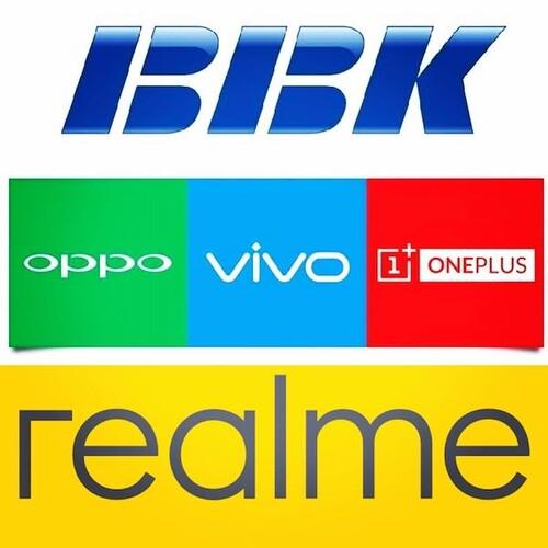 Vivo, Realme, Oppo, OnePlus (BBK Electronics)